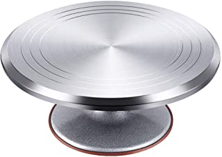 Kootek Aluminium Alloy Revolving Cake Stand 12 Inch Rotating Cake Turntable for Cake, Cupcake Decorating Supplies
