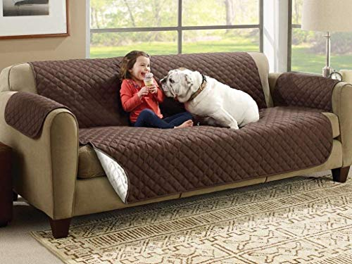 Gokich® Couch Protectors for Dogs,Reversible Pet Protector Furniture Covers,Sofa Protector Cover,Wide Chair Cover,Couch Covers,Extra Large Sofa Slipcover 2 Seater