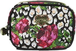 Betsey Johnson Roses Over Cheetah Cub Singular Cosmetic Case