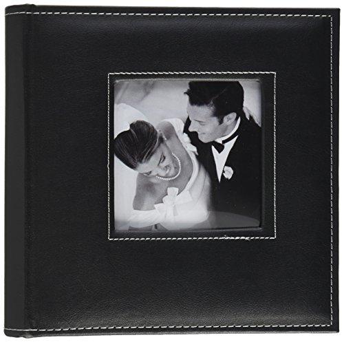 "K&Company Black 2 Up Faux Leather Memo Photo Album 8""X9"""