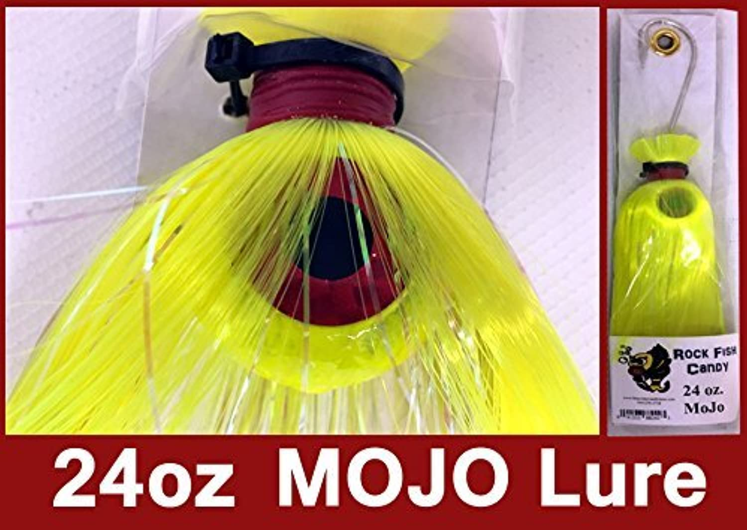 blueee Water Candy  Rock Fish Candy 24 oz Cannonball Mojo Lure (Chartreuse)  882423