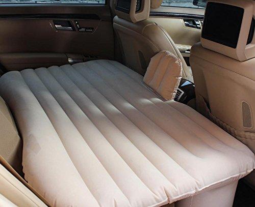 YL Auto Drehmaschine Auto Aufblasbare Bett Maschine Bett Gitter Geschnitzte Matratze Auto Reise Bett Bett,Beige,135 * 90 * 45cm