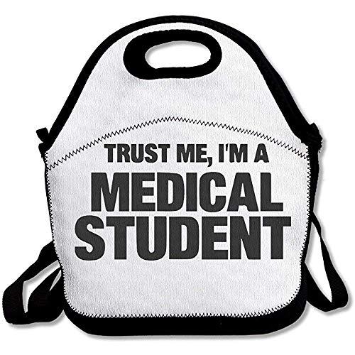Trust Me I & Euro; M A Medical Student Large & Thick Neopren Lunch-Taschen Isolierte Lunch-Taschen Kühltasche Warm Tasche mit Schultergurt für Frauen Teenager Mädchen Kinder Erwachsene