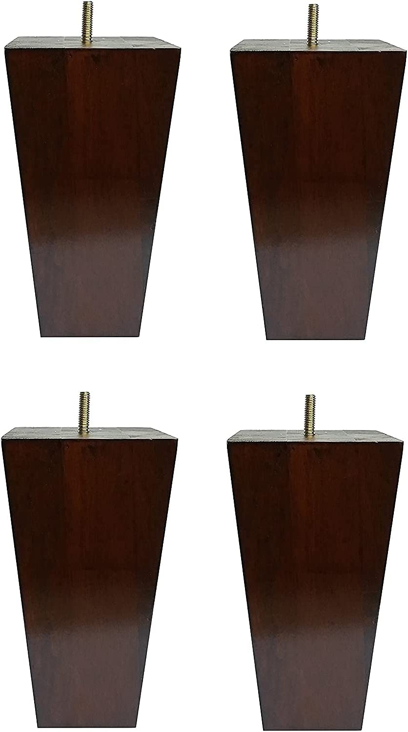 Wood Be super welcome Furniture Legs Sofa Square of Brown shipfree Couch Pack 4