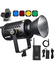 Godox UL150 150W Silent LED Video Light, 5600K Daylight-balanced, CRI 96 TLCI 97 Nauwkeurige kleurweergave, Super Heel Fanless Operation, 0%-100% Dimbaar