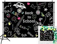 新しい学校の子供たちにパーティー装飾デコレーションビニール7x5ft初日の背景の背景黒板バナー写真の背景