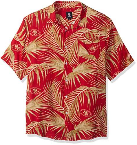 San Francisco 49ers NFL Mens Hawaiian Button Up Shirt - XL