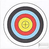 Juvale Paper Bullseye Shooting Targets for Archery, Gun Range, 5 Ring (17.5 in, 30 Pack)