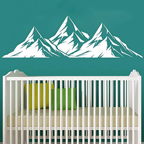 JXWH Mooie landschap bergen vinyl zelfklevend behang voor huishoudtextiel woonkamer slaapkamer sticker wandschilderij