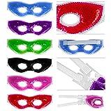 Kühlbrille für Augen mit farbigen Gel-Perlen - Kühlmaske Kühlbrille Gelbrille für Gesicht...