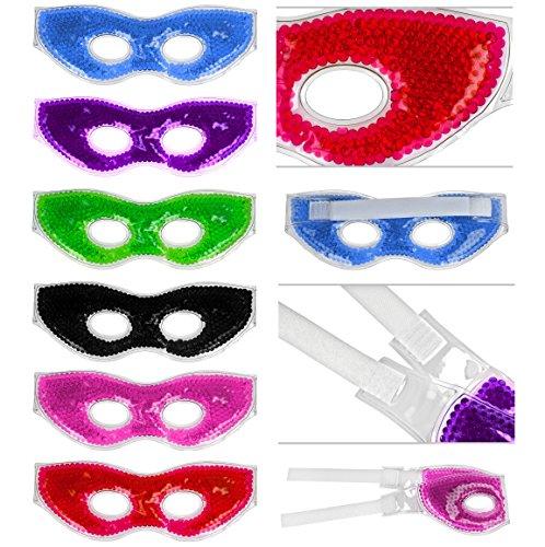 Masque pour les yeux avec perles en gel colorés et fermeture Velcro migraines Masque Glacière et soulagement de la douleur avec perles perles d'eau Aqua Pearl Beads