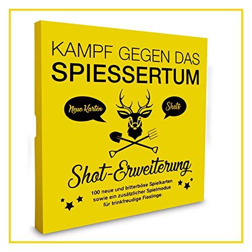 Kampf gegen das Spiessertum - Shot Erweiterung mit 100 neuen Spielkarten. Die 1. Erweiterung des fiesen Kartenspiels.