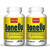 Jarrow Formulas BoneUp - 120 Capsules, Pack of 2 - Micronutrient Formula for Bone Health - Includes Natural Sources of Vitamin D3, Vitamin K2 (as MK-7) & Calcium - 120 Total Servings
