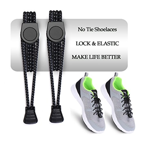 """AMZNEVO Elastic No Tie Shoelaces, 59"""" Shoe Laces System for Adults Sneakers"""