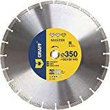 GRAFF® Disco da taglio professionale per pietra naturale, cemento armato, granito, marciapiedi, disco diamantato per smerigliatrice angolare (350 mm)
