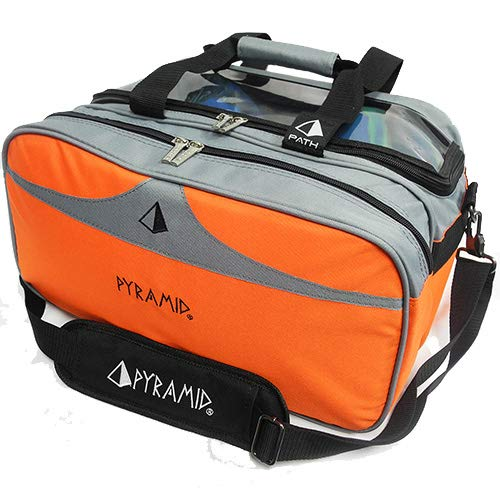 Pyramid Path Bowling-Tasche mit transparenter Oberseite, orange / grau