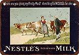 EpochSign 1891 Nestle's Condensed Milk Cartel de Metal de Lata de 8 x 12 Pulgadas