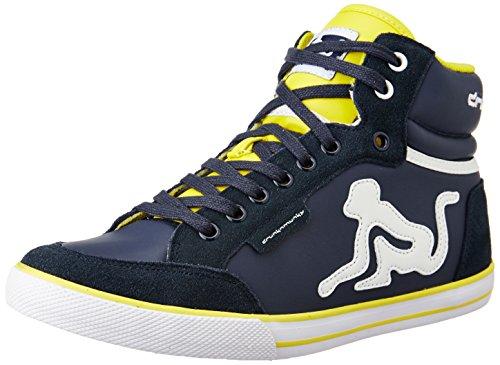 DrunknMunky Boston Classic 005 Herren-Sneakers, Grau/Rot, Blau - blau - Größe: 38