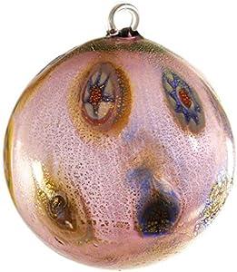 Bola de Navidad – Morado Millefiori Fantasy – Cristal de Murano Navidad
