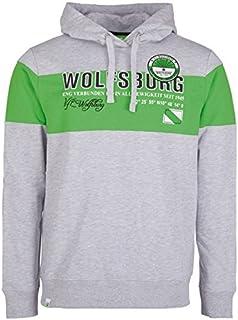 VfL Wolfsburg Sweatshirt, Herren, grau/grün S