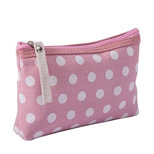 PoplarSun Dot Cosmetics Sacs avec Multicouleur Maquillage Mignon Voyage Etuis for Dames Organisateur Pouch Femmes Sac cosmétique (Color : Pink)