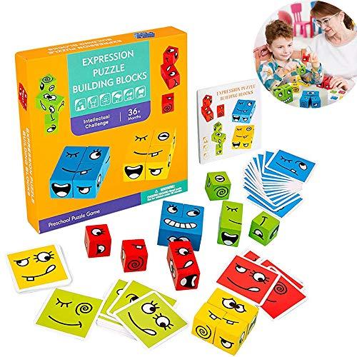 N\ A Lustiger Ausdruck Puzzle Montessori Gesicht ÄNdern Spielzeug Emojis Matching Und Bauen Spiel Pädagogisches Puzzle Spielzeug Geschenk Für Kinder Vorschule 1 Satz/Bunten