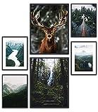 MUUDLY Premium Poster Set, Moderne Wandbilder für