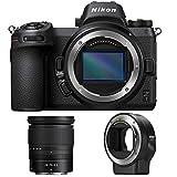 Nikon Z7 45.7MP FX-Format 4K Mirrorless Camera with NIKKOR Z 24-70mm f/4 + FTZ Mount Adapter (Renewed)