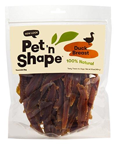 Pet 'n Shape Duck Breast Fillets - All Natural Dog Treats, Duck, 1 Lb