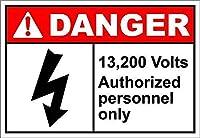 ボルト承認された担当者のみの危険 金属板ブリキ看板警告サイン注意サイン表示パネル情報サイン金属安全サイン