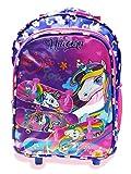 STYLBASE Unicorn Kids Girls Boys Children Wheels Trolley Backpack School Travel Luggage Book