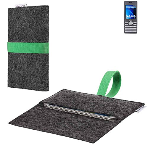 flat.design vegane Handy Hülle Aveiro für Kazam Life B6 passgenaue Filz Tasche Case Sleeve Made in Germany