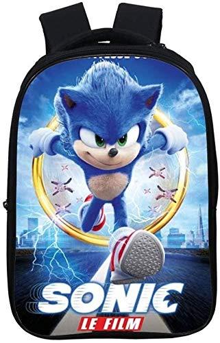 Sonic - Mochila escolar ligera para niños, impermeable, ergonómica, de 2,16 pulgadas