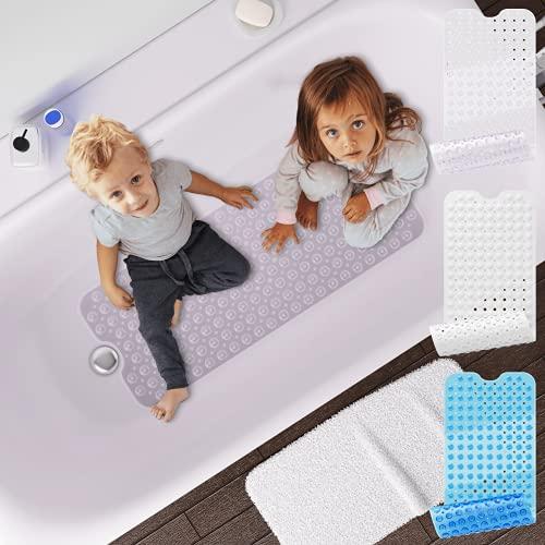 Badewannenmatte von BEARTOP - 40 x 100cm - ca. 200 Saugnäpfe - rutschfest - waschbar in der Maschine - schimmelresistent - verschiedene Farben - Zufriedenheitsgarantie (3 Jahre)