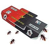YoniLife Cucarachas trampas atrapan cucarachas insectos no tóxicos, polvo profesional de control de plagas – Paquete de 10 unidades