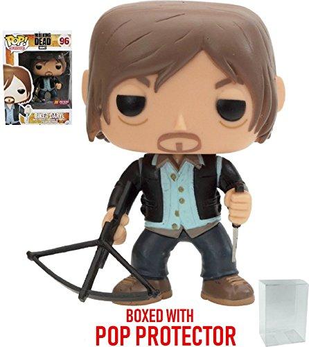 Funko Pop! TV: The Walking Dead - Biker Daryl Dixon PX Exclusive Vinyl Figure (Bundled with Pop Box Protector Case)