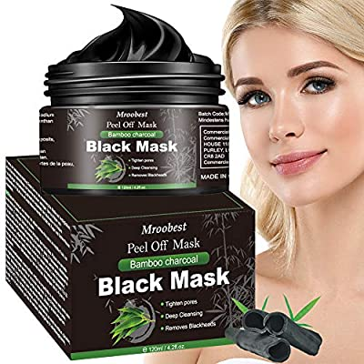 Charcoal Face Mask, Blackhead Mask, Peel Off Mask, Blackhead Removal Mask, 120ml Charcoal Face Black Mask Deep Cleansing, Pore Shrinking, Anti Acne & Oil Control