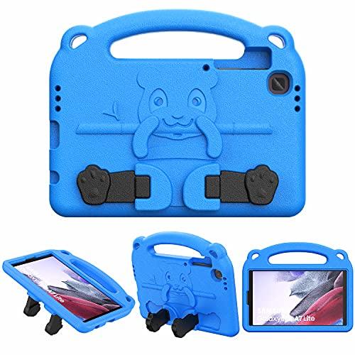 TiMOVO Funda para Tablet con Asa Compatible con Samsung Galaxy Tab A7 Lite 8.7 2021(SM-T220 / T225 / T227), Cubierta Protectora Ligera A Prueba de Golpes con Soporte para Niños, Azul