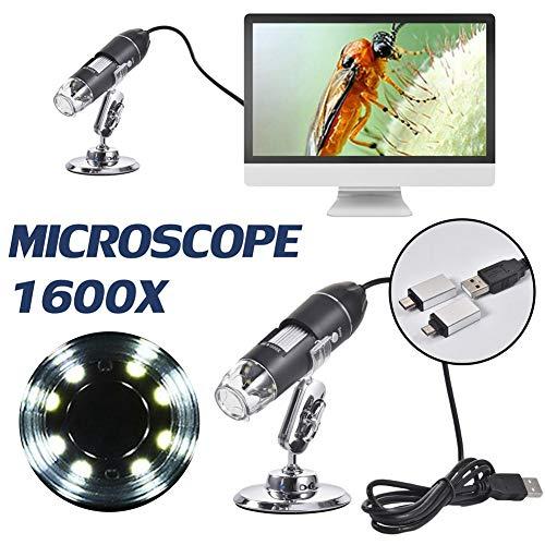 Beeant 3 in 1 Wireless Digital Microscope PFC Optics 50X-1000X 1080P Handheld Portable Mini WiFi USB Microscope Camera with 8 LED Lights for/iPad/Smartphone/Tablet/PC