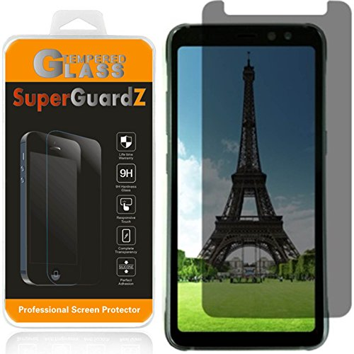 [2-Pack] for Samsung Galaxy S8 Active [NOT for Samsung S8 / S8+] Privacy Screen Protector Tempered Glass [Anti-Spy], SuperGuardZ, 9H Anti-Scratch, 2.5D Round Edge, Anti-Bubble [Lifetime Replacements]
