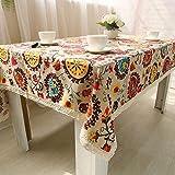 SELHOME Bohemian Table Cloth Cotton Linen Tablecloth Rectangular Tablecloths Dining Table Cover Obrus Tafelkleed Mantel mesa Nappe U0997 - Bohemian Style - 140180cm