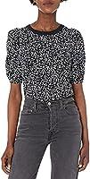 Amazon Essentials Women's Classic Fit Puff Short Sleeve Crewneck T-Shirt