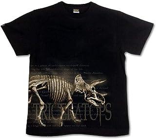 [GENJU] Tシャツ 恐竜 恐竜博 トリケラトプス スカル アメカジ 骨 メンズ キッズ