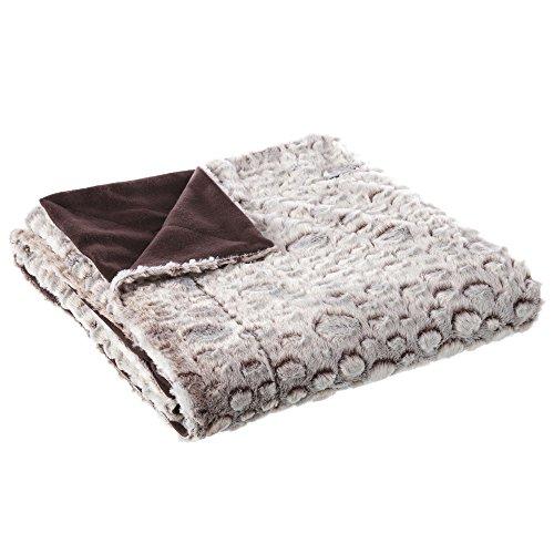 Manta de sofá clásica marrón de poliéster para salón Bretaña - Lola Derek