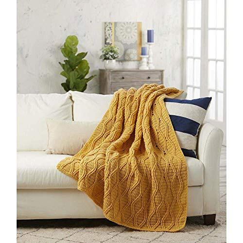 Herrschners Crochet Cable Afghan Kit