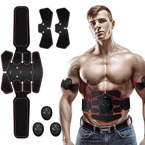 Nitoer EMS Elektrostimulation Muskel Trainer,Bauchmuskeltrainer,Muskelstimulator, Elektrostimulatoren Massagegerät,Stärkung der zentralen seitlichen Bauchmuskulatur