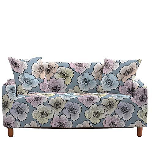 Funda elástica para sofá, Todo Incluido, Antideslizante, patrón Floral, Asiento, sofá, Fundas para sofá, Protector de Muebles, decoración del hogar,9,1 Seater(90-140cm)