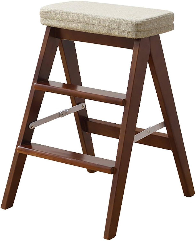 Massivholz-Klapptritthocker, tragbarer Küchenschemel der Küche, kletternder hlzerner Schemel des Hauses. (Farbe   1)