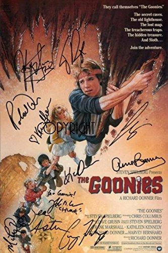 Limited Edition The Goonies Poster unterzeichnet Foto Autogramm signiertsigniertes
