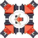 Juego de 4 Abrazaderas de Ángulo Recto Abrazaderas de Esquina de 90 Grados Ajustable para bricolaje, herramientas de mano, abrazadera de esquina para carpintería y fabricación de gabinetes